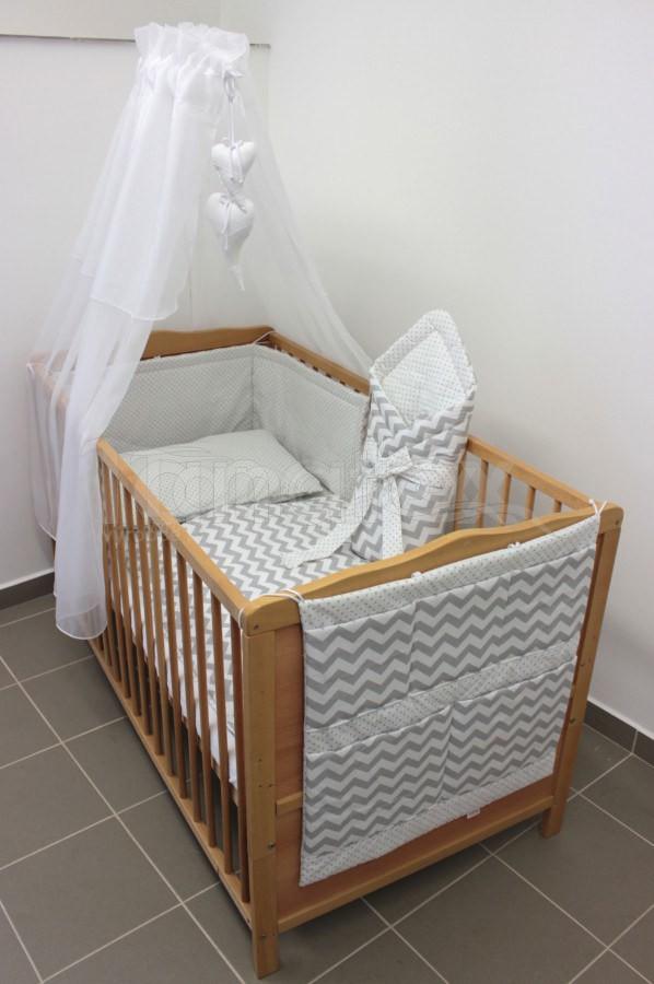 5 Ti dílná sada šedý cikcak - šedý puntík - Pro děti a miminka Výbava pro miminko Zvýhodněné sady pro miminko