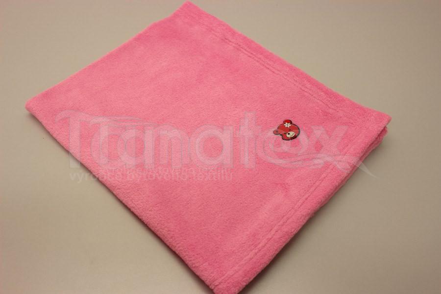 Deka Růžová - Pro děti a miminka Výbava pro miminko Do kočárku Deka do kočárku