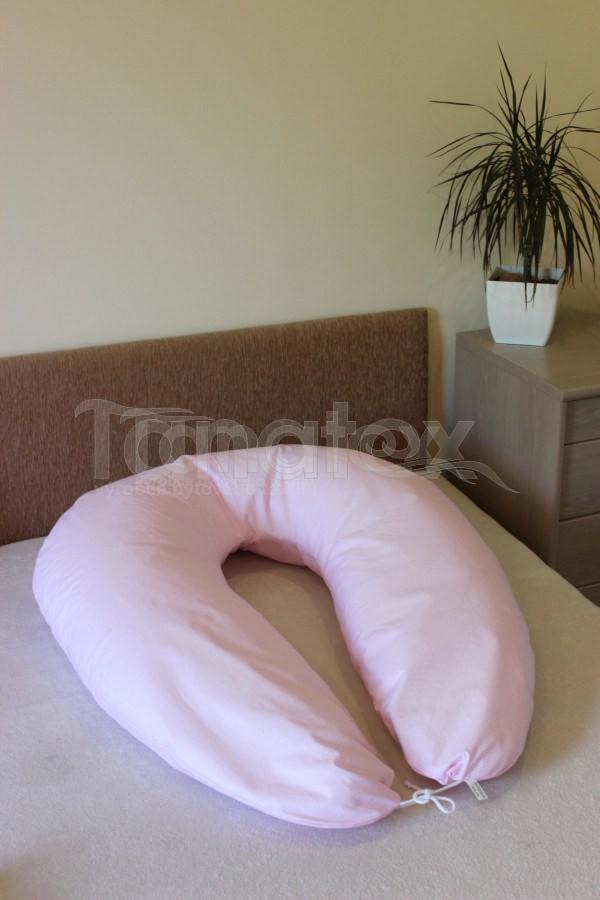 Kojící Polštář růžový proužek