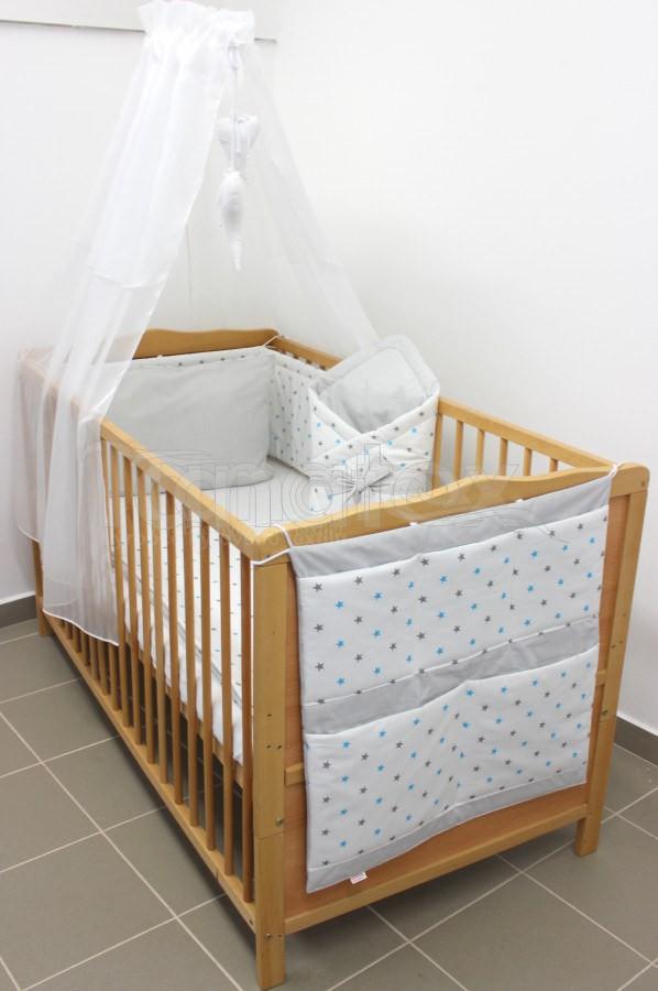 5 Ti dílná sada hvězdičky kombi šedé a tyrkysové - šedý proužek - Pro děti a miminka Výbava pro miminko Zvýhodněné sady pro miminko